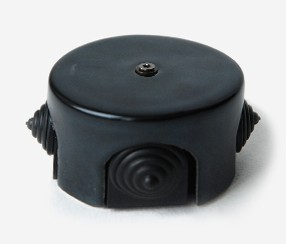 Black porcelain junction box