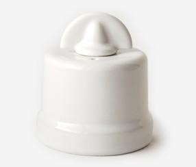 One way switch Meri, white porcelain