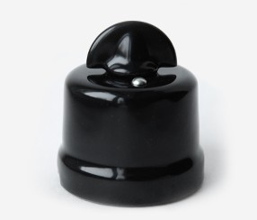 Porcelain wall switch Meri, black