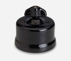 One way wall switch Garby, black porcelain