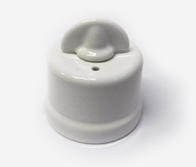 Wall switch, big, white porcelain