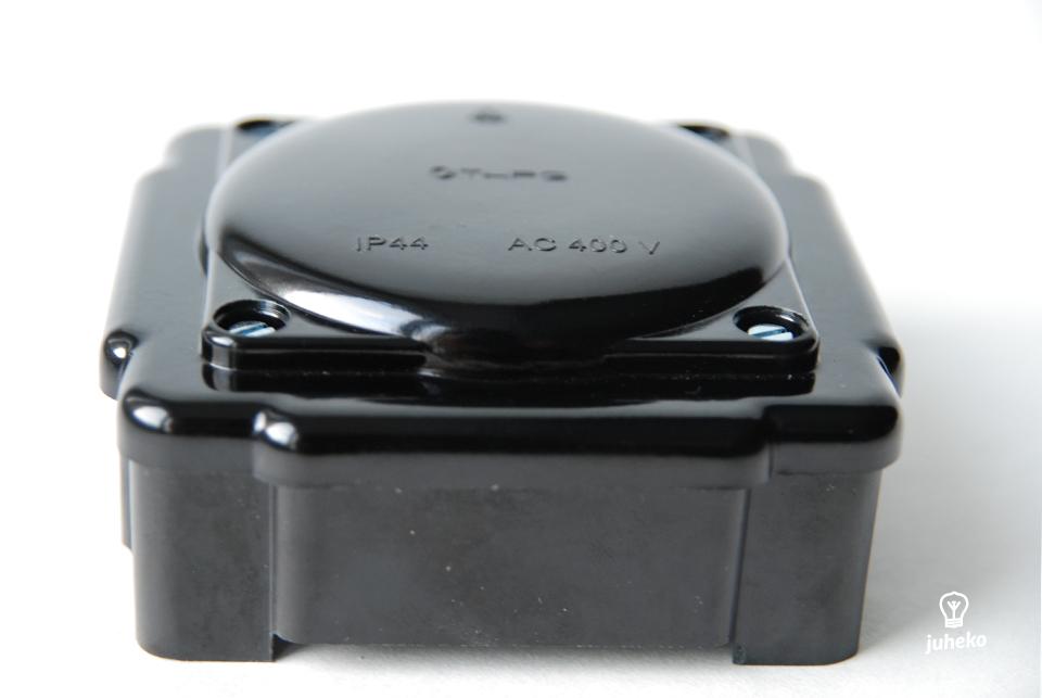 Black bakelite junction box