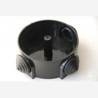 Black porcelain junction box, Sat large