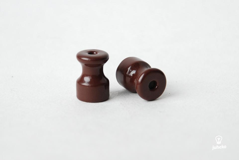 Kaabli isolaator / kinniti portselanist, pruun