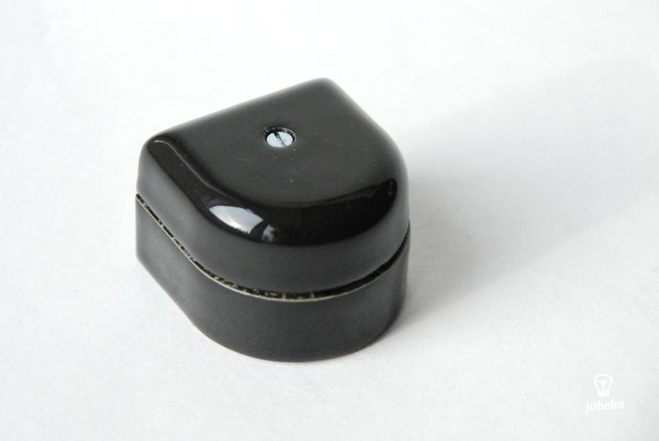 Mini Porcelain junction box, curved