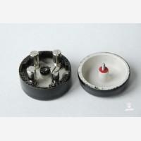 Junction box circular Mini, black