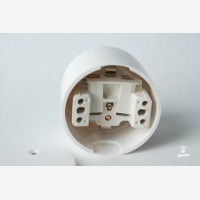 Wall socket, duroplast, white