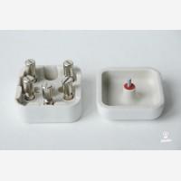 Junction box square, Mini, white