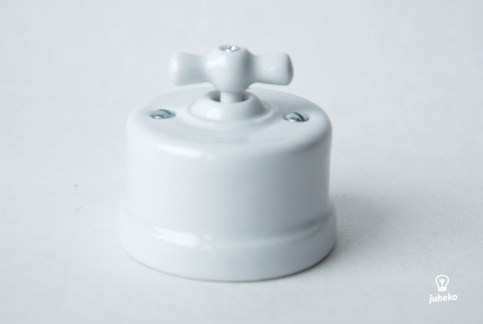 Two way switch Fontini, white porcelain