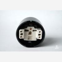 Wall socket, bacelite, black