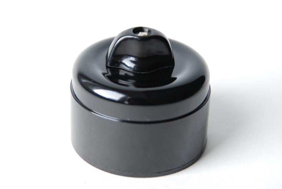 Wall switch, black bakelite