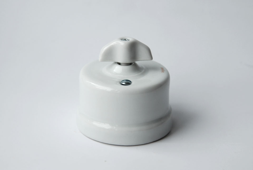 One way wall switch Garby, white porcelain