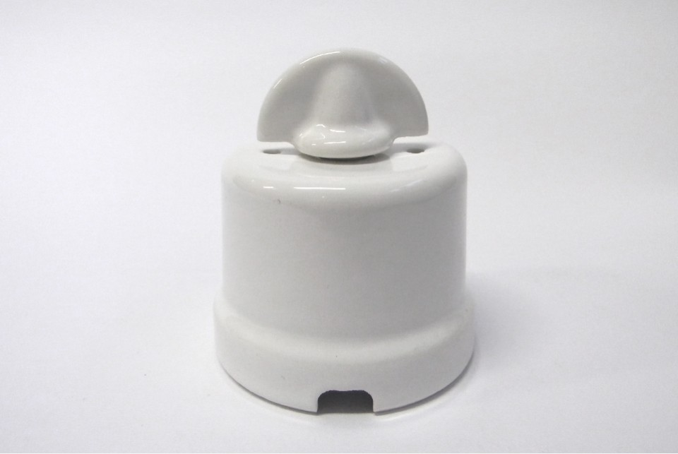 Wall switch Meri, white porcelain