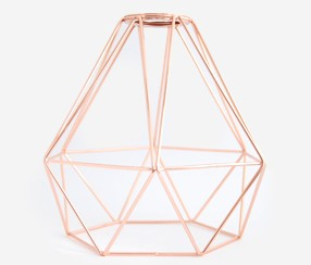 Diamond bulb cage, copper