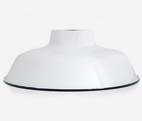 Enamel Lampshade TLN, white with black rim