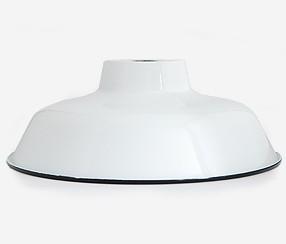Emailitud lambikuppel TLN, valge musta äärega