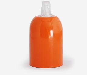Metal lamp, orange