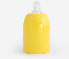 Metal lamp, yellow