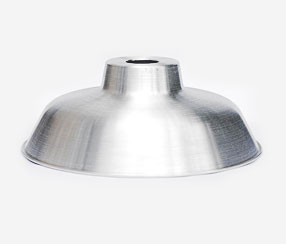 Emaliuotas lempos gaubtas TLN, iš gryno aliuminio