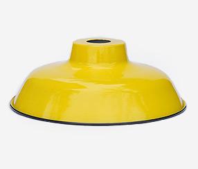 Emaliuotas lempos gaubtas TLN, geltonas iš išorės