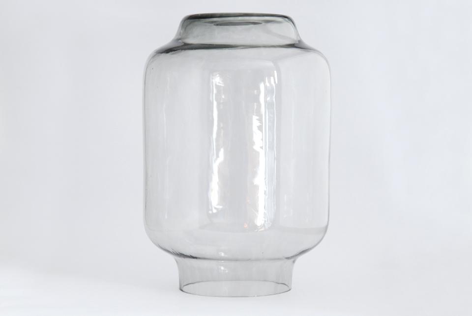 Handmade glass shade - smoke