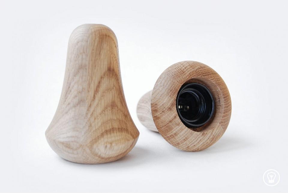 Wooden lamp Muki, oak