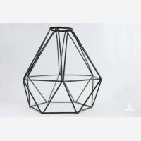 Diamond bulb cage, black