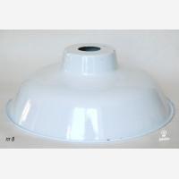 Rustic enamel Lampshade  TLN,  white