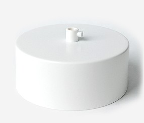Ceiling rose with one hole, matte white