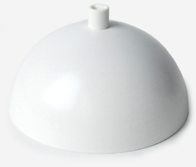 Curved ceiling rose Fin, matte white