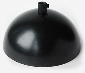 Curved ceiling rose Fin, black
