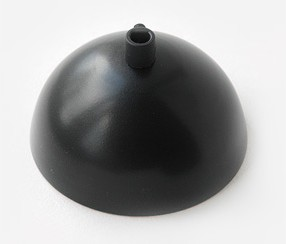 Juodas lubų dangtelis