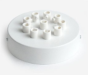 Ceiling rose with ten holes, white