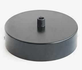 Kattokuppi musta, 1 reikä