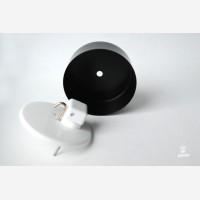 Ceiling rose with one hole, black