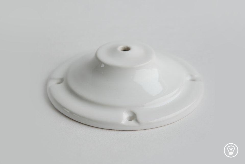 Ceramic flat ceiling rose