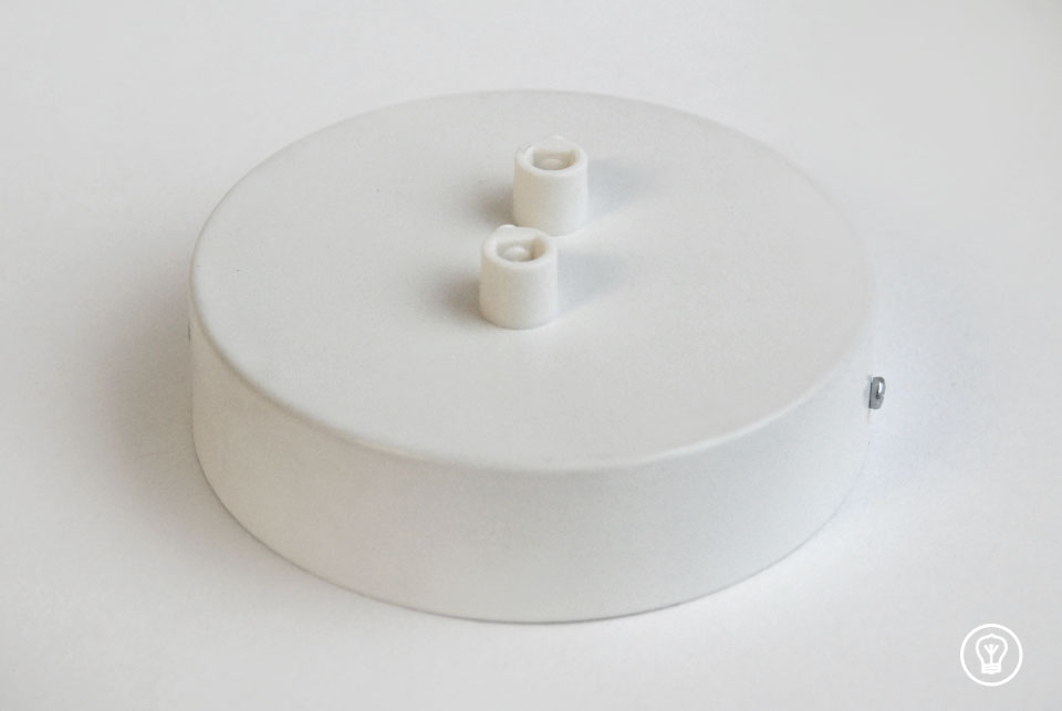 Ceiling rose with two holes, white