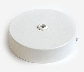 Ceiling rose with large hole 14 mm, white