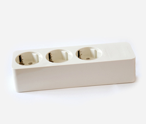 Extension socket, white