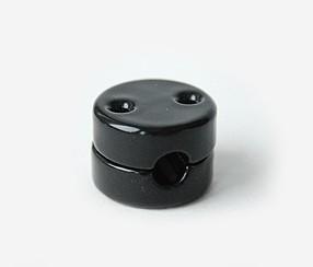 Portselanist kaablikinniti, must 1.5mm2 juhmele