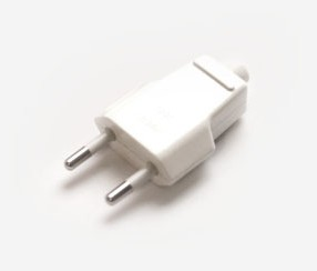 Plug unearthed, white