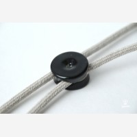 2 cables wall fixing, porcelain, black