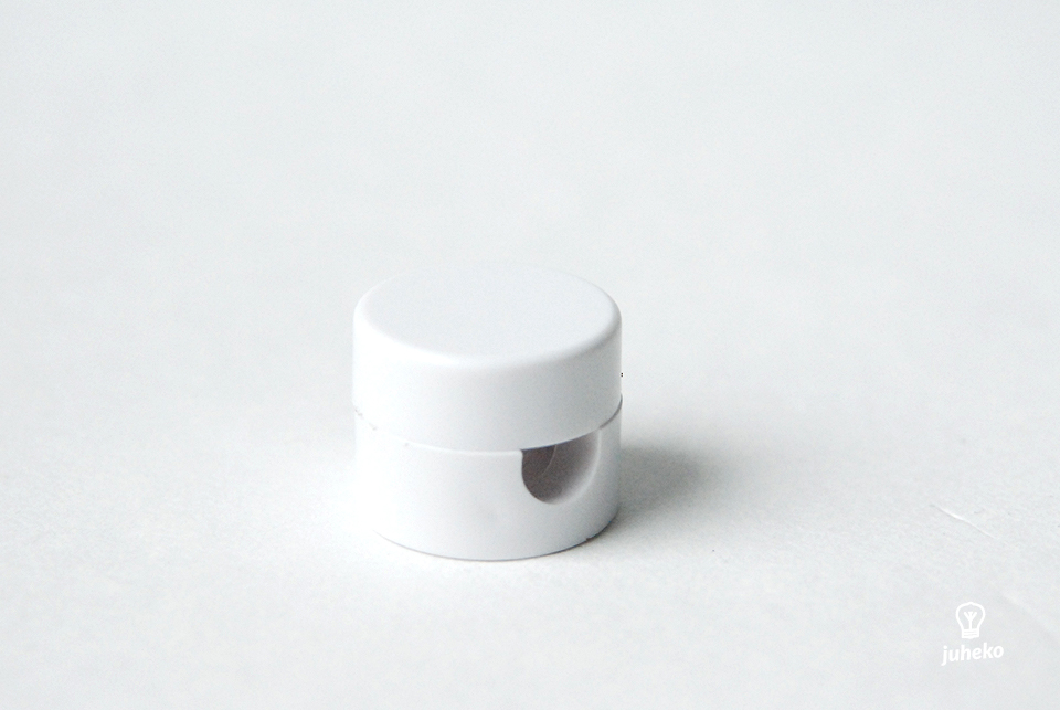 Cable wall fixing, plastic, white