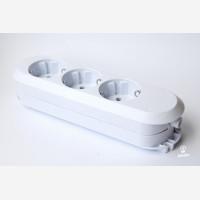 Extension socket, white