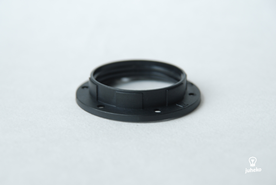 Shade ring for bakelite lampholders, black, E14