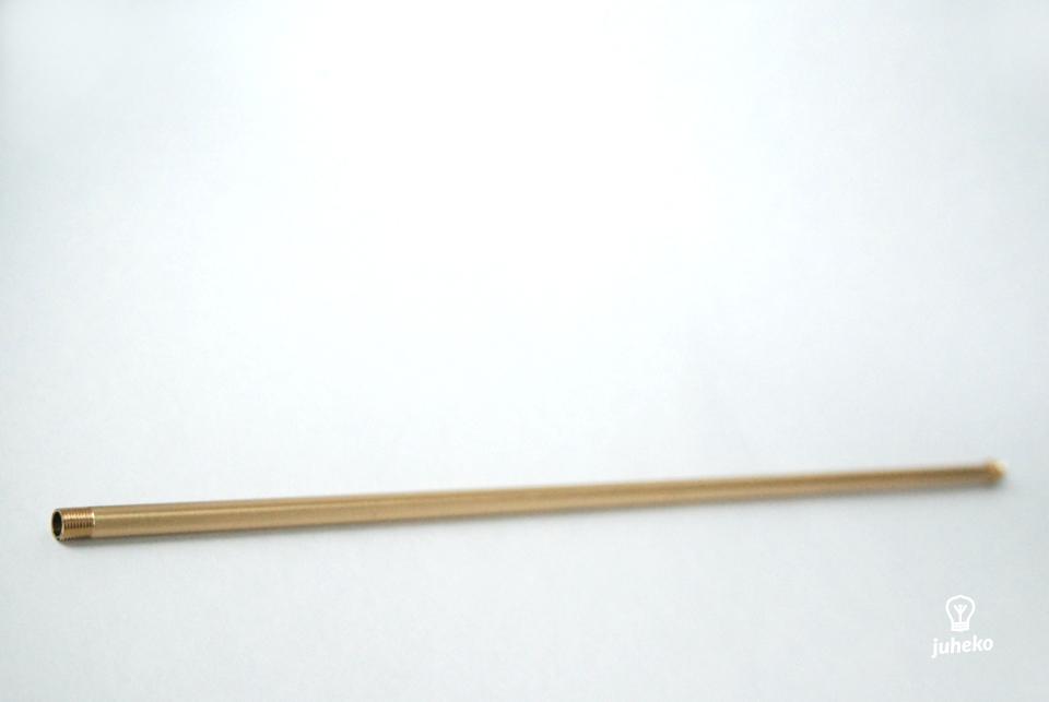 Brass tube 490 mm, ends threaded