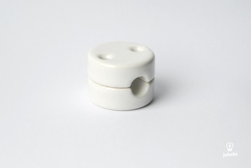 Wall fixing porcelain, white