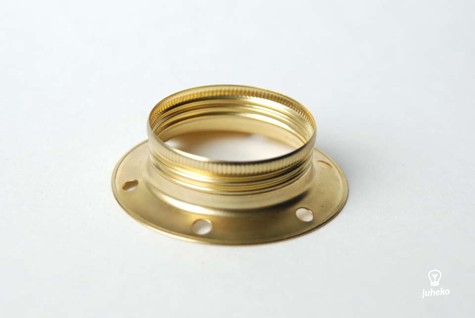 Shade ring for brass lampholder with threads E27