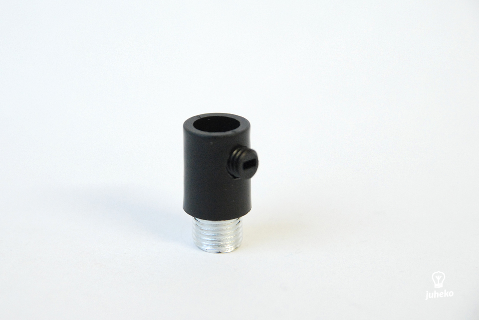Cable grip, black, metal thread