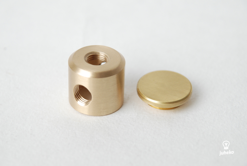 Solid brass 3 way tube connector M10 threaded holes